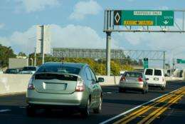 Kicking hybrids out of carpool lanes backfires, slowing traffic for all