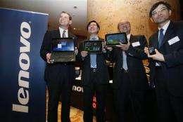 Lenovo says quarterly profit nearly doubles (AP)