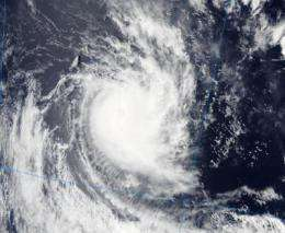NASA sees Alenga become a cyclone in the Southern Indian Ocean