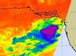 NASA sees Arabian Sea tropical depression 1A fading