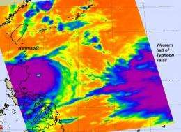 NASA sees Super Typhoon Namadol explode in strength, Talas also strengthens