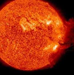 NASA sees the sun having a solar blast