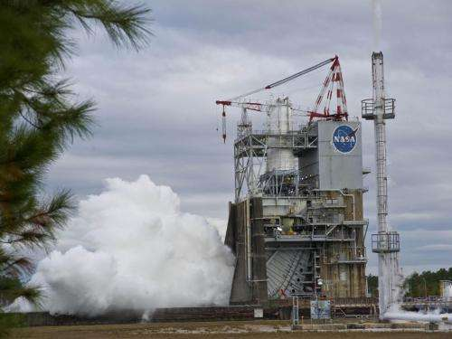 NASA's first J-2X engine rockets through first round of testing; development continues strong