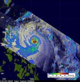 NASA: Songda becomes a super typhoon