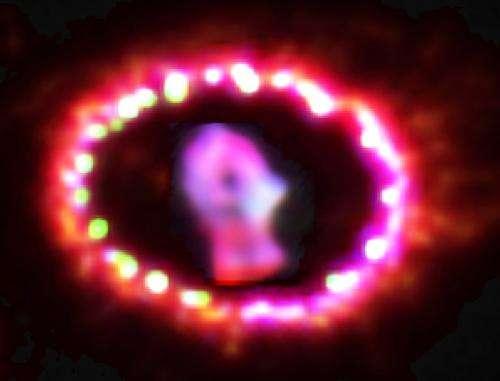 New supernova remnant lights up