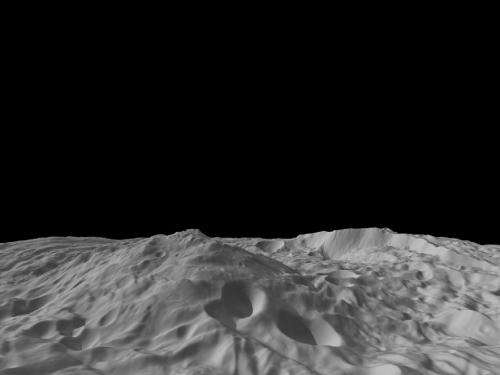 New view of Vesta mountain from Dawn mission