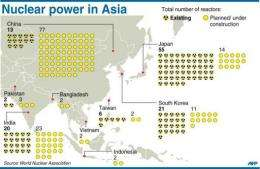 Nuclear power in Asia