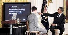 Obama takes on 'tweeters' in Twitter town hall (AP)