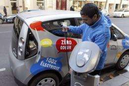 Officials hope to eventually have 3,000 electric cars for hire in Paris