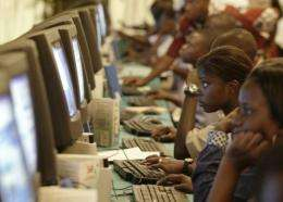 Only 9.6 percent of Africans are web users