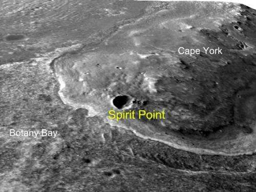 Opportunity heads toward 'Spirit Point'