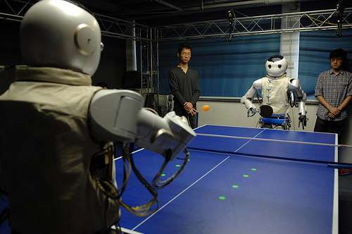 Ping-pong robots debut in China (w/ video)