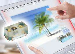 Powerful mini-LEDs for thin touchscreens