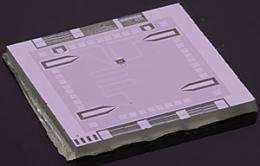 Prototype 'optics table on a chip' places microwave photon in two colors at once