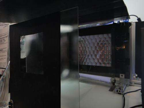 Prototype uses multi-lens display for 3-D depth
