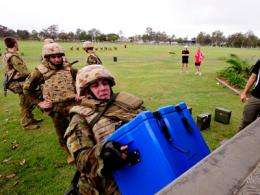 Push-ups no match for combat