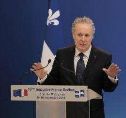Quebec's Prime minister Jean Charest