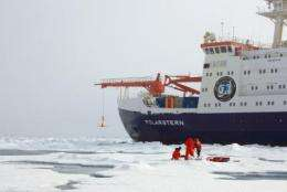 Research vessel Polarstern at North Pole