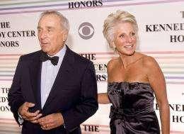Sidney Harman (L) and Jane Harman