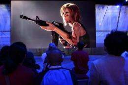 Square ENIX exhibit at the annual Electronic Entertainment Expo (E3) at the Los Angles Convention Center in 2010
