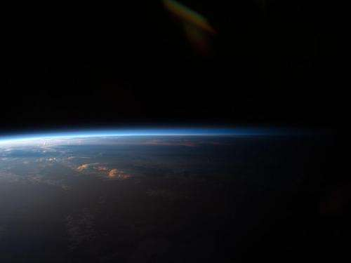 Sunset Over South America