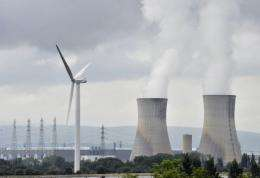 The cooling towers of Tricastin nuclear power plant in France