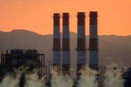 The Department of Water and Power (DWP) San Fernando Valley Generating Station is seen in Sun Valley