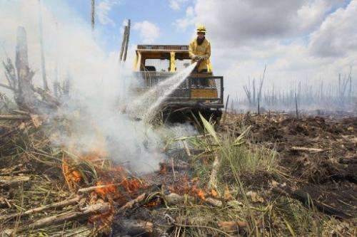 The dry conditions have led to massive and uncontrollable wildfires.