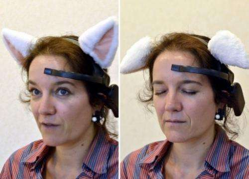 The ears perk up when the user concentrates and flop down when the user enters a relaxed state of mind