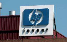 The headquarters of US information technology giant Hewlett-Packard, in Brussels