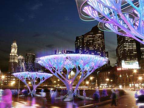 The Lenfest Center for Sustainable Energy designs a faux tree that converts CO2 to O2