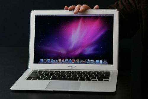 The MacBook Air is the thinnest of Apple's notebook computers