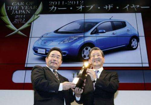 "The Nissan Leaf is the first electric car to win ""Car of the Year Japan"" at the Tokyo Motor Show"