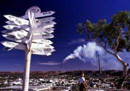 The outback mining town of Mount Isa which is the single most polluting source of greenhouse gases in Australia