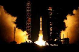 The satellite reached orbit nine minutes after takeoff from the Baikonur space centre