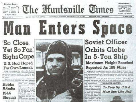 The Soviet victory in the space race was big news in the United States