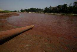 The spill spread across an area of 40 square kilometres