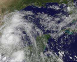 Tropical Storm Arlene moves inland over Mexico: A GOES-13 satellite movie view
