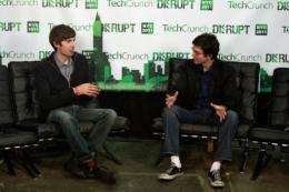 Tumblr CEO David Karp (L) founded the microblogging service in 2007