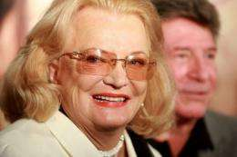 "Two-time Oscar-nominated Gena Rowlands, 81, stars in ""Olive"""