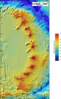 Underwater Antarctic volcanoes discovered in the Southern Ocean