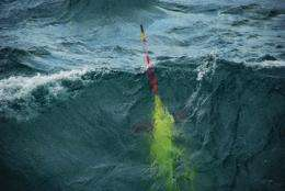 Underwater gliders provide unprecedented documentation of aggregate flux event during North Atlantic phytoplankton bloom