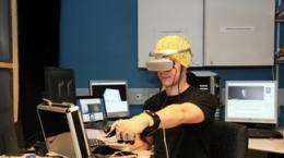 Using virtual reality to recover from a cerebro-vascular accident