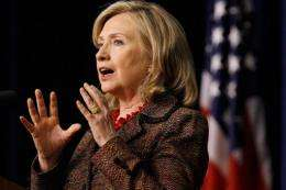US Secretary of State Hillary Clinton heads to London Tuesday for a cyberspace conference