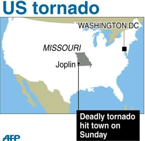 US tornado map of Joplin