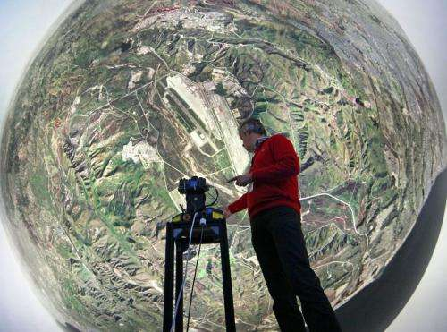 Fighter jet training dome shows 360-degree view