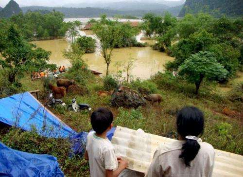 Vietnam, the world's number-two rice exporter, has been hard hit by flooding