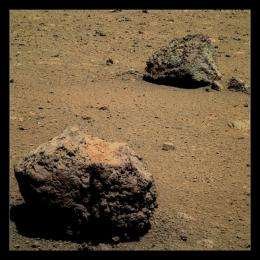 Were martian rocks weathered by water?