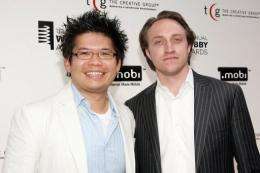 YouTube founders Chad Hurley (R) and Steve Chen