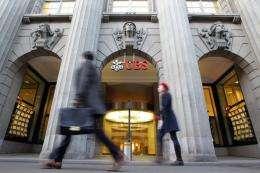 Zurich headquarters of Swiss bank UBS
